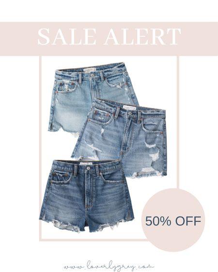 SALE ALERT: my go to denim shorts are 59% off at Abercrombie right now!!  #LTKsalealert