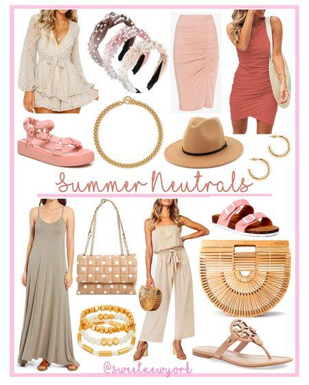 Summer Style Finds : Neutral clothing shoes and accessories http://liketk.it/3fJTh #liketkit @liketoknow.it #LTKunder50 #LTKstyletip #LTKshoecrush