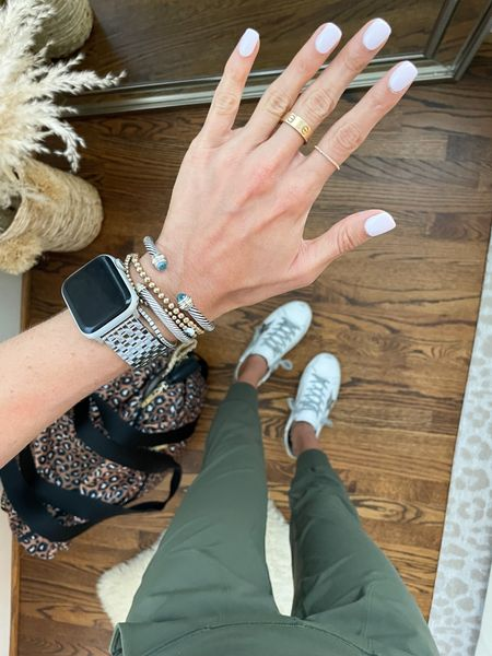 Joggers size xs, linked rings and Apple Watch band   #LTKunder50 #LTKstyletip #LTKunder100