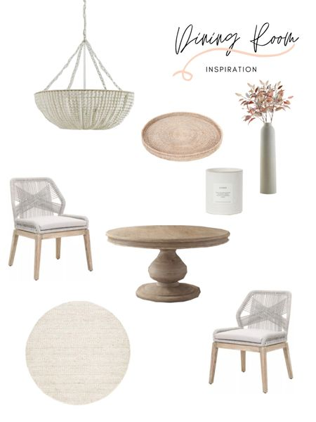 Dining room decor mood board! This pedestal dining table definitely makes a statement along with the dining table chairs! Loving this overall vibe. Shop the look: http://liketk.it/3dfMN #liketkit @liketoknow.it @liketoknow.it.home @liketoknow.it.family #LTKstyletip #LTKhome #LTKfamily