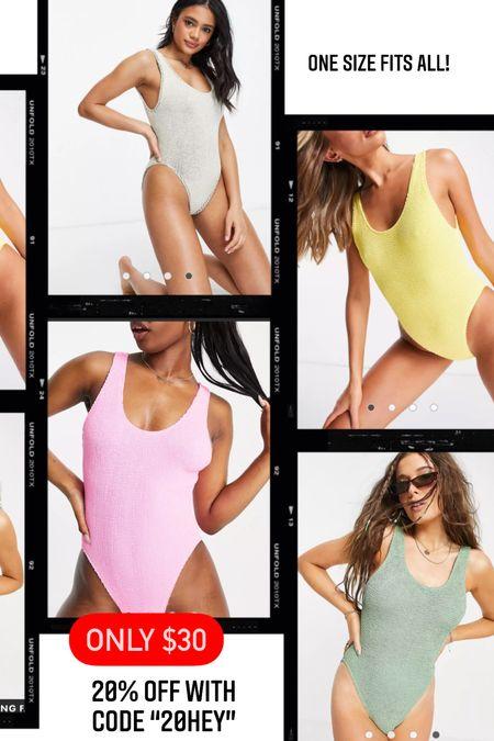 Crinkle swimsuit- super soft- one size fits all  #LTKsalealert #LTKswim #LTKtravel
