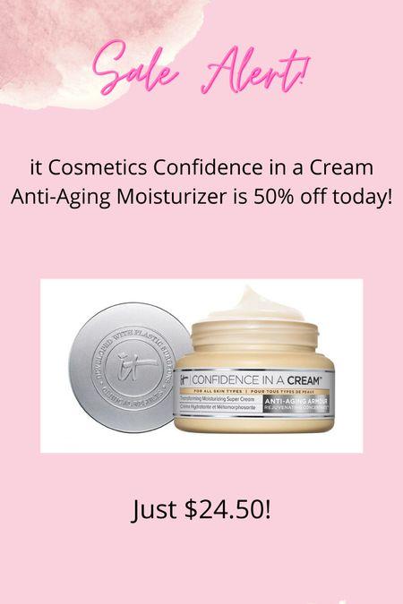 It Cosmetics Confidence in a Cream Anti-aging moisturizer is 50% off at Ulta online today only!   #LTKsalealert #LTKbeauty #LTKSale