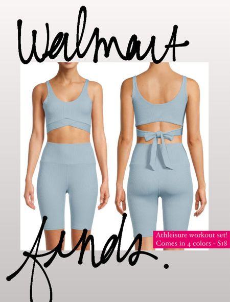 Walmart finds - super cute 2 piece athleisure set !!  Comes in a few other colors too!!   Walmart fashion // walmart finds //affordable fashion  #LTKstyletip #LTKsalealert #LTKunder50