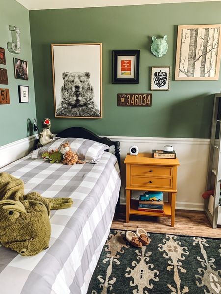 I am so in love with how my son's bedroom turned out! I wanted to make sure I chose decor that would grow with him and still feel stylish when he's 16.  #LTKhome #LTKkids #LTKunder50