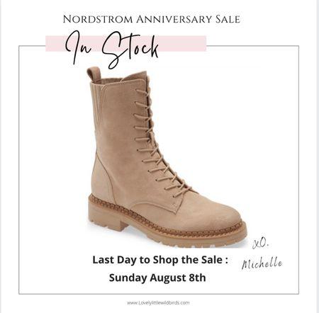 Nordstrom Anniversary Sale. My favourite Combat Boots from the Nsale. Sam Edelman's Nude Combat boots. Still in Stock     #LTKsalealert #LTKshoecrush