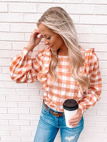 """Being """"basic"""" when it comes to pumpkin spice lattes is 💯 ok with me! Although, if Starbucks saved purchase history it might be embarrassing 🤷🏼♀️😁   Shop my festive fall top at @shopreddress linked in my bio.   #rdbabe #rdstyle #pumpkinspice #fallinmichigan #octoberfashion #fallweather #traversecitymichigan #PSL   #LTKSeasonal #LTKHoliday"""