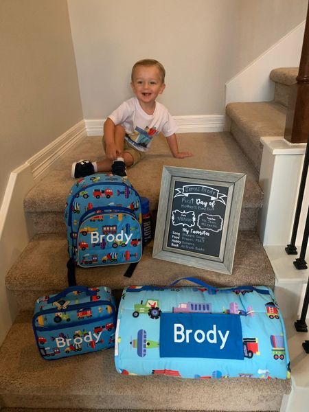Back to school is here! We love our trucks and trains backpack and nap at set for preschool! Comes in lots of other patterns too! Truck backpack | Truck nap map | Nap mats for boys   #LTKunder50 #LTKfamily #LTKkids