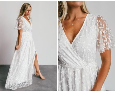 The perfect flowy maxi dress for an engagement session or as a wedding guest! It comes in white/ivory and forest green 😍 I love the flutter sleeves with the embroidered detail  @liketoknow.it #liketkit http://liketk.it/374TQ   #LTKunder100 #LTKstyletip #LTKwedding