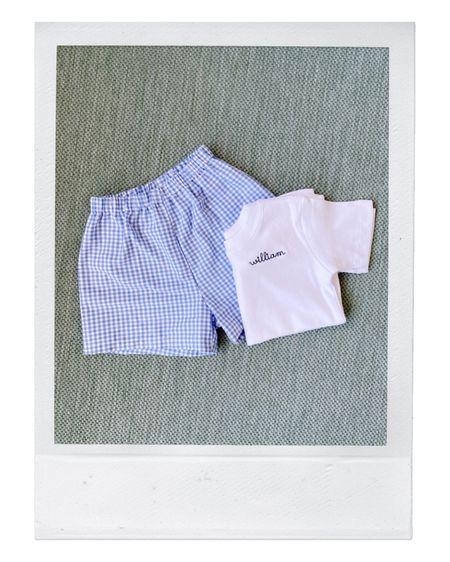 Kids Embroidered Shirt and Gingham Shorts @liketoknow.it #liketkit http://liketk.it/3dpWU