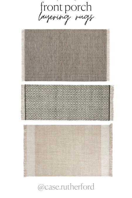 It's front porch sitting season! Love these outdoor rugs to layer under your doormat! http://liketk.it/3ezbJ #liketkit @liketoknow.it #frontporch #doormats #layeringrug #frontdoormat #neutraldecor #outdoorliving #frontdoor #layereddoormat