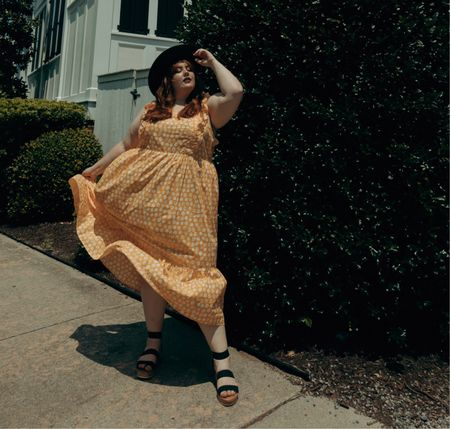 This yellow dress is absolutely adorable and I love the little frills on it!   #LTKstyletip #LTKcurves
