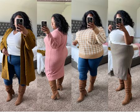 Plus Size Fall Outfit from @Target | Target Finds, plus size sweater, knit sweater skirt, cardigans, affordable fashion, target outfits, plus size outfit ideas. @shop.ltk #liketkit #Target #TargetPartner #giftsforher #giftguide  #LTKunder50 #LTKGiftGuide #LTKcurves