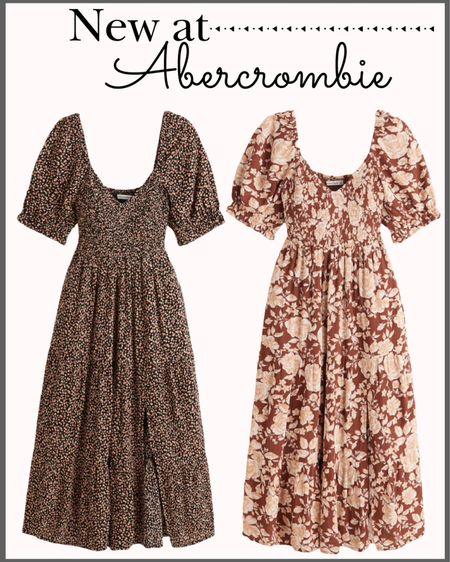 New arrivals at Abercrombie! 🍁  Fall dresses Midi dress Smocked dress Fall fashion Abercrombie dress Floral dress Family photos dress Family photos outfit  #LTKsalealert #LTKunder100 #LTKstyletip