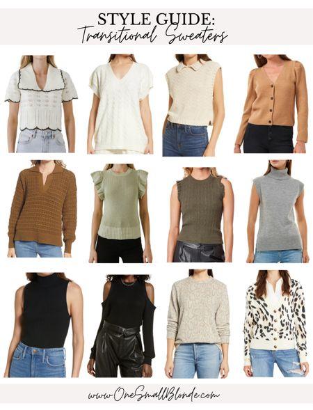 Transitional sweaters for early fall 🤍✨  #LTKSeasonal #LTKunder100 #LTKstyletip