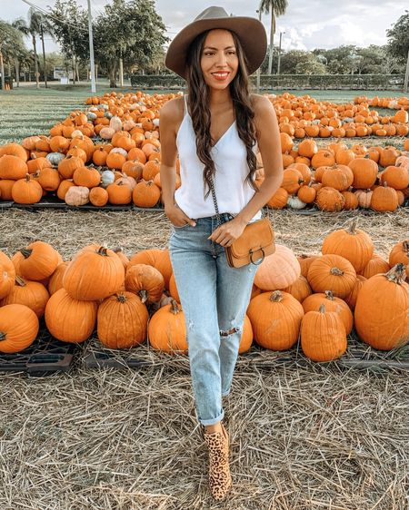 My attempt at fall in Miami 🍁 🍂 🎃 We picked up a couple of pumpkins to decorate the house a bit, just wishing for lower temps to get in spirit for the season.  What is your favorite thing to do during Fall? Other than drinking PSLs (obviously) 😄  Linked my outfit on the   @liketoknow.it app or through the link in my bio http://liketk.it/2FOKz   #liketkit #LTKshoecrush #LTKstyletip #casuallooks #fallstyle #fallfashion #fashiontips #outfitshare #styleshare #whowhatwearing #affordablestyle #pumpkinpatch #fallinmiami #miamiblogger #miamistyle #miamilife #effortlessstyle #everydaystyle #momstyle #latinmom #modalatina #expresslife #fashionfix #rewardstyle #stevemadden #americanstyle #dressmeforless