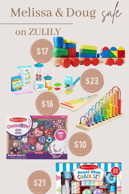 Melissa & Doug toy sale on Zulily!
