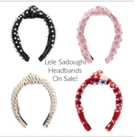 Fantastic sale on some Lele Sadoughi headbands, scrunchies, and jewelry, including pieces from special collaborations with Solid and Striped. My favorites are the Americana tweed and the pink studded headband. Some items are 50% off.   #ltkaccessories #lelesadoughi #headbands   #LTKunder100 #LTKsalealert #LTKstyletip