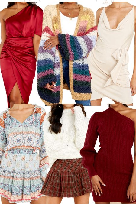 NEW arrivals! Thanksgiving Day Outfit, Wedding Guest Dress, Anthro Cardi DUPE   #LTKstyletip #LTKSeasonal #LTKHoliday
