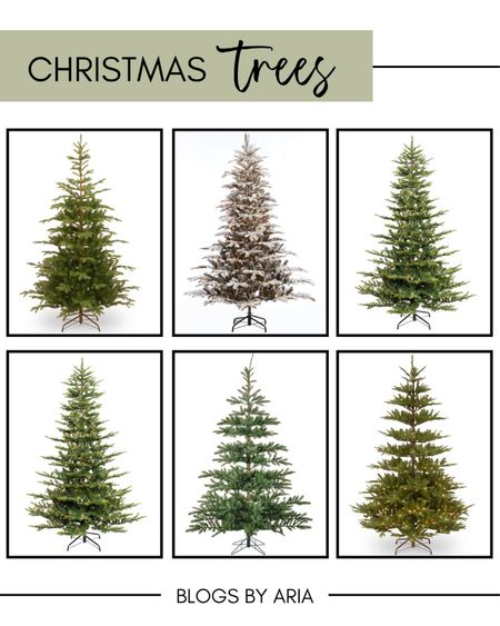 Christmas trees to get right now! I love the sparse look of these trees they'd be so much fun to decorate! Christmas decor wayfair Christmas Walmart finds   #LTKHoliday #LTKSeasonal #LTKhome