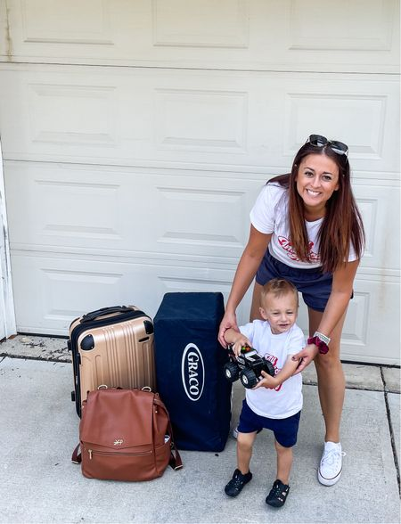 #ltktravel Anyone else overpack like me? Love my Amazon luggage and must have Pax's pack'n play.         #LTKtravel
