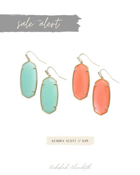 Kendra Scott earrings on sale 💚🧡 #rebekahelizstyle  #LTKsalealert #LTKstyletip #LTKunder50