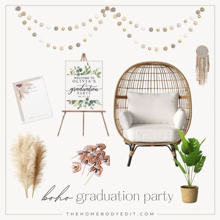 GRADUATION party theme idea! Boho themed party for high school or college graduation party! #party #gradparty #classof2021  #LTKhome #LTKfamily #LTKSeasonal