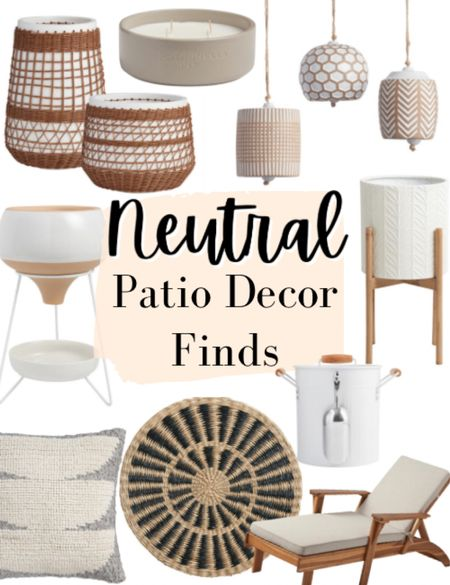 Neutral patio decor finds! I love these affordable favorites for your patio that work with lots of different styles!   ✨✨✨✨✨ Patio, patio decor, patio finds, outdoor decor, outdoor planters, chaise lounges, outdoor pillow, planters, outdoor plates, neutral decor  #LTKSeasonal #LTKunder100 #LTKhome