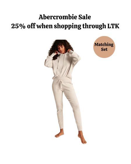 Fall outfits, fall fashion, matching set, loungewear, Abercrombie.   #LTKSale #LTKSeasonal #LTKsalealert