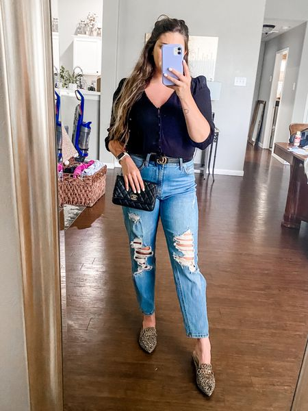 Last night's date night look! I have been so busy this week (hence the vacuum) but so glad it's Friday-Eve 🥂  These are my new favorite jeans (only $22)! You can shop this look and all of my favs on the LIKEtoKNOW.it app!   #LTKstyletip #LTKunder50 #LTKunder100