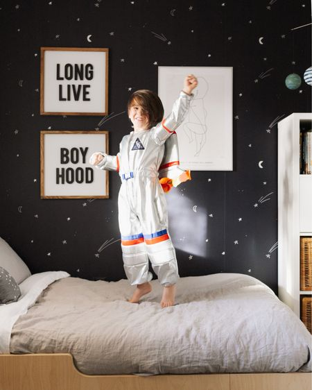 3... 2... 1... blast off! 🚀🧑🏼🚀 to infinity... and beyond! may the force be with you. {insert your own space-ism here} 😂  all this to say, my little space obsessed boy's new bedroom is on the blog today! thelovedesignedlife.com   download the LIKEtoKNOW.it shopping app to shop this pic via screenshot http://liketk.it/326v2 #liketkit @liketoknow.it #LTKfamily #LTKkids #LTKhome