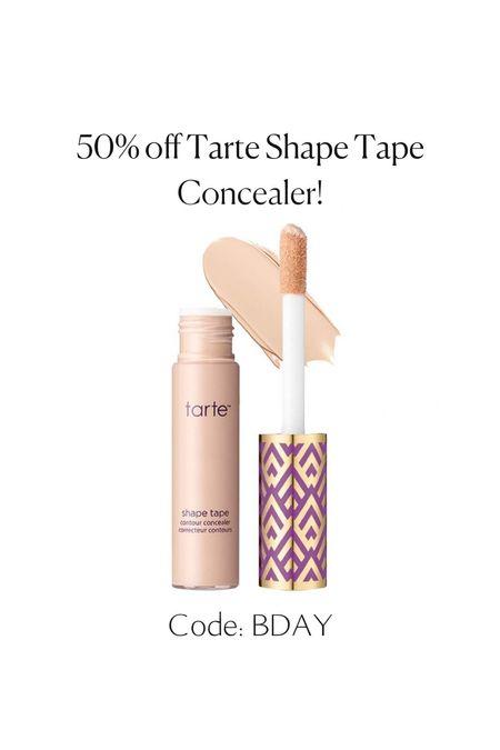 My favorite concealer is 50% off today! Shape Tape is the best, my color is fair neutral    #LTKsalealert #LTKbeauty