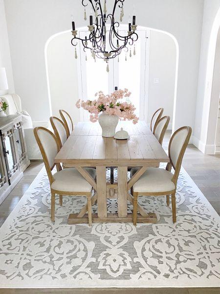 The dahlia rug!    Home decor, dining room, farmhouse table chairs, Walmart finds   #LTKunder50 #LTKhome #LTKSeasonal