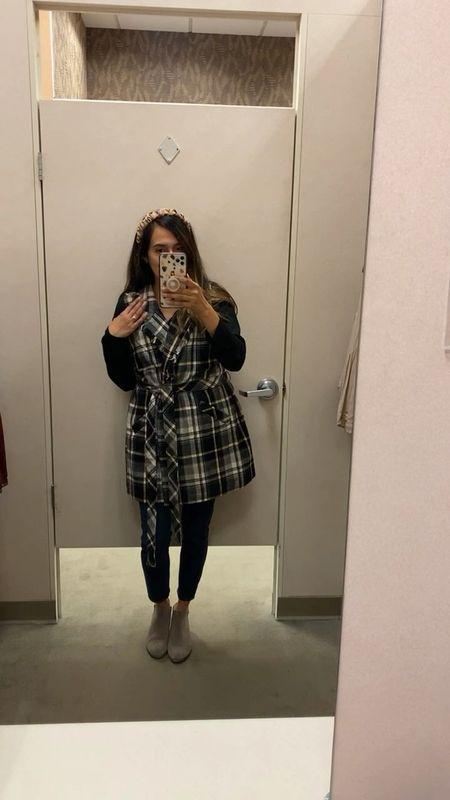 Such a cute plaid long vest, it would go perfect with a skirt   #LTKbacktoschool #LTKstyletip #LTKSeasonal