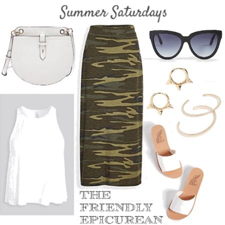 This super comfy camo skirt is my weekend favorite for summer. It's flattering, soft, and goes with everything! Z Supply is my new favorite for simple wardrobe staples. This is the perfect go to summer outfit. The bag and sunglasses are affordable but luxurious. http://liketk.it/2Un7P #liketkit @liketoknow.it Shop my daily looks by following me on the LIKEtoKNOW.it shopping app