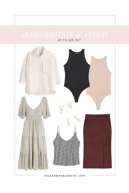 Abercrombie & Fitch up to 30% off! Some cute holiday pieces / fall pieces in the mix. Can layer bodysuits with a comfy sweater   #LTKsalealert #LTKstyletip #LTKHoliday
