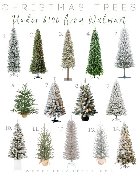 My favorite Christmas trees from Walmart! I have at least half of these in my attic waiting to come down 🙈🌲 These affordable walmart trees sell out FAST so grab them while you can!!  . . Christmas tree, Christmas decor, home decor, walmart decor, walmart finds, holiday decor, flocked trees, skinny trees  #LTKGiftGuide #LTKSeasonal #LTKHoliday