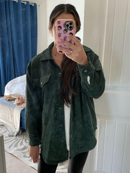 Corduroy shirt jacket shacket target   #LTKunder50