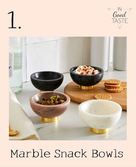These bowls are beautiful for serving hummus, nuts or cracker for the host!   #LTKunder100 #LTKunder50 #LTKsalealert