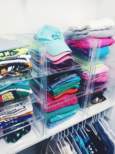 Create more space by adding stackable bins ✨  #LTKSeasonal #LTKunder50 #LTKstyletip