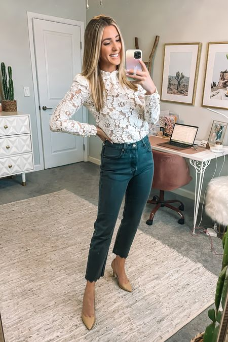 Amazon prime day is here and I'm about to go live at 6pm PST featuring a TON of prime day fashion deals!! Head to Amazon.com/shop/alwaysmeliss to watch, or to my stories for a direct link.  My lace top is included in the sale in black, navy and green. My jeans are also part of #PrimeDay and both run true to size. SWIPE for a bunch of prime day looks!! Everything is linked on @liketoknow.it  and on my Amazon shop. #liketkit #LTKsalealert #LTKstyletip #LTKunder50 http://liketk.it/3i8nz