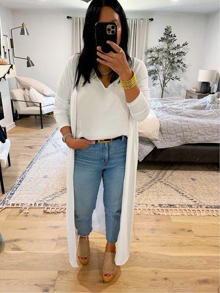 Fall outfit, duster  #LTKunder100 #LTKcurves #LTKshoecrush