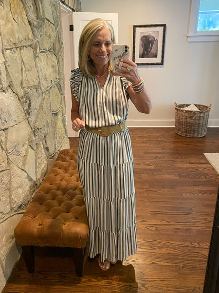 Maxi dress or skirt and top. Either way, it's on sale. Amazon belt comes I. A pack of 4, one size fits most   #LTKsalealert #LTKstyletip #LTKunder50