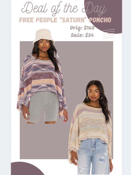 Revolve Sale: Free People Sweater Poncho #ltkunder35   #LTKstyletip #LTKunder50 #LTKsalealert