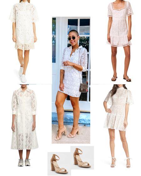 Lace dress Cork pumps Lace dress inspo  http://liketk.it/2T59m #liketkit @liketoknow.it