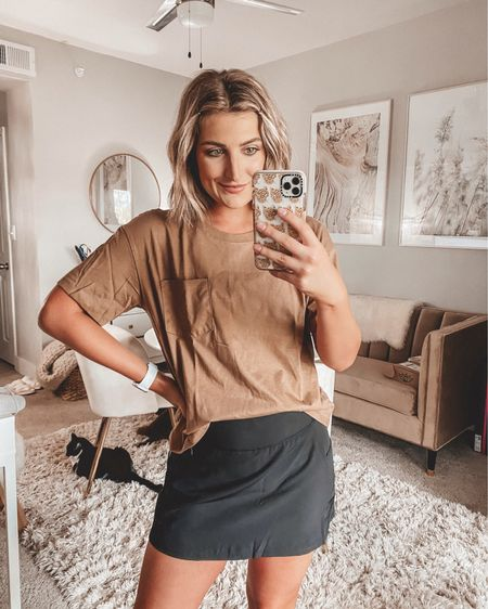 Walmart find of the day! Love this $8 boyfriend tee. Comes in other colors! And this tennis skirt is super cute... wearing a medium. http://liketk.it/2VjcX @liketoknow.it #liketkit #LTKstyletip #LTKsalealert
