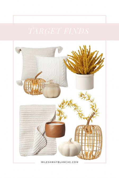 Target fall finds - fall pillows, pumpkins, candles, & more. Good quality for the price!   #LTKHoliday #LTKSeasonal #LTKhome