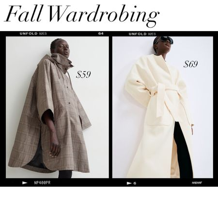 I am THRILLED about these finds! This plaid cape looks like some beautiful designer pieces I loved last season and you can't beat this price!  I'm excited to wear a cream coat this fall and this one has a beautiful cut and is a great alternative to the Anine Bing Hunter coat that I got 🏆   #LTKunder100 #LTKworkwear #LTKtravel
