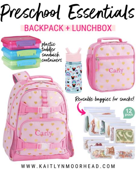 Grace starts preschool next week + this is the backpack + lunch box we bought her from Pottery Barn. We got them personalized + it came out so cute! I also purchased these snack containers + reusable bags for her lunch box. http://liketk.it/2W8ro #liketkit @liketoknow.it #LTKfamily #LTKkids #LTKunder50 @liketoknow.it.family