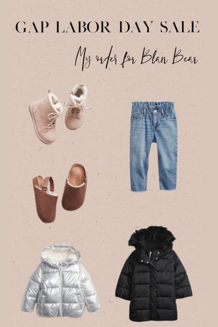 Gap Labor Day sale! Here's my order for Blair Bear!
