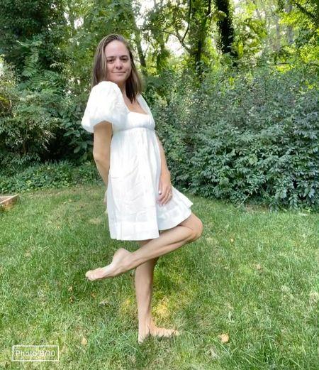 Free people mini dress. White dress for summer. White mini dress.   #LTKstyletip #LTKunder100